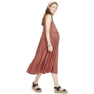 HATCH | anais sienna maternity midi dress